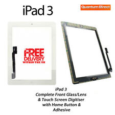 NEW Complete Front Glass/Digitiser Touch Screen/Panel Assembly FOR iPad 3 WHITE