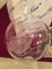 Princess House 363 Santa's Sleigh Crystal Christmas Ornament.  NIB