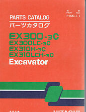 Two Parts Catalogs for Hitachi EX300-3C (and related models) Excavator