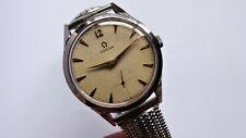 OMEGA ref: 2605-9 oversized large watch vintage handwinder linnen waffle dial