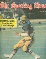 1976 Sporting News PITTSBURGH Panthers TONY DORSETT No Label NCAA Football Prev