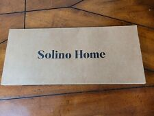 """Solino Home 100% Pure Linen Athena Table Runner - 14 x 72"""", Charcoal Grey (I6)"""