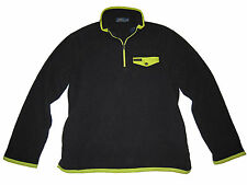 Polo Ralph Lauren Black Neon Yellow Expedition Active Fleece Jacket Coat XL