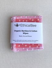 EthicalBee Pack Of 6 Reusable Organic Face Wipes.