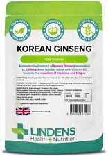 Coreano Ginseng (PANAX) 1300mg-impulso de energía - (100 comprimidos) [Lindens 1288]