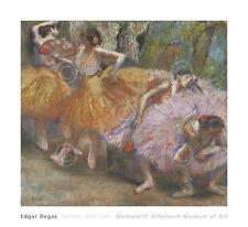 DANCE ART PRINT - Dancers with Fans, c. 1898 by Edgar Degas Ballet Poster 24x22