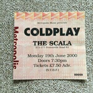 Coldplay ticket The Scala 19/06/00 #00059