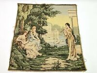 Tapestry Square Greek Roman Women Flute Player Made in Belgium Belgian Used Q6