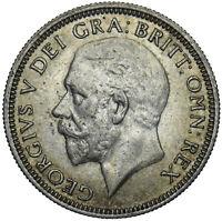 1936 SHILLING - GEORGE V BRITISH SILVER COIN - V NICE