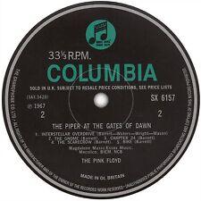Pink Floyd Piper At The Gates Of Dawn record label sticker. Syd Barrett