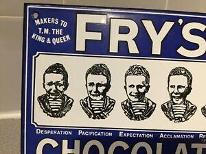 ENAMEL SIGN - FRY'S CHOCOLATE possibly Garnier