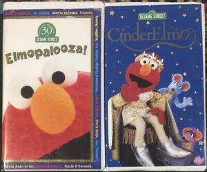 "Sesame Street ""Elmopalooza!"" & ""CinderElmo"" VHS Lot Of 2"