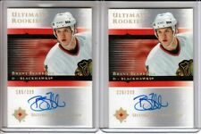 2005-06 Ultimate Collection #109 Brent Seabrook 2 x RC LOT Auto /399