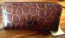 NEW with TAGs from MIXIT Women's Brown zip wallet Reptile texture