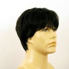 Perruque homme 100% cheveux naturel noir ref KEVIN 1b
