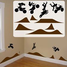 motocross kids room decals, fathead style motocross kids room wall decals,vinyl