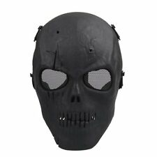 Army Mesh Full Face Skeleton Mask Black Airsoft Game Skull Paintball Safety