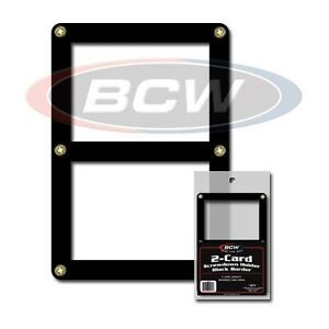 2 Card Screwdown Holder with Black Border x 2 Frame pack