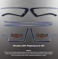 HONDA 1983 CB450 NIGHTHAWK TANK COVER DECAL GRAPHIC KIT