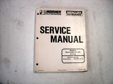 MERCURY OR MARINER OUTBOARD OEM FACTORY SERVICE MANUAL 225 3.0L 1994-1998