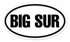 "Big Sur California Oval car window bumper sticker decal 5"" x 3"""