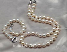 "AAAA+ 18""11-12mm NATURAL south sea white pearl necklace+Bracelet"