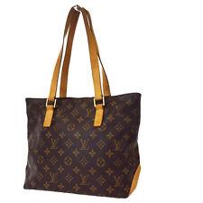 Auth Louis Vuitton Cabas Piano Shoulder Bag Monogram Leather Brown M51148 30D042