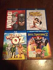 Bluray lot (Wizard of Oz, Hotel Transylvania 2, Justice League Doom, Wonder Woma