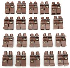 Lego 20 New Reddish Brown Hips and Legs with Leather Belt Knee Patch Stains