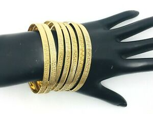 """14K GOLD SOLID 7 DAY BANGLES, (SEMANARIO) SIZE 8"""" WEIGHT 54.50 GRAMS"""