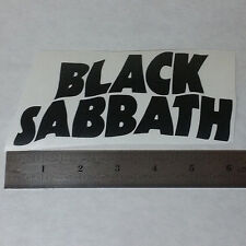 BLACK SABBATH Vinyl DECAL STICKER BLK/WHT/RED Heavy Metal BAND Logo Window Guita