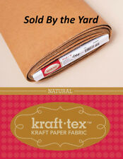 "Kraft-tex Paper Fabric Natural 19"" Wide By The Yard"