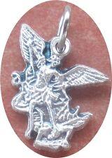 Saint St. Michael the Archangel Cut-Out Charm + Fighting devil