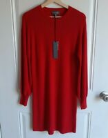 NWT Michael Stars Womens Heart Red Long Bishop Sleeve Sweater Dress Size XS READ
