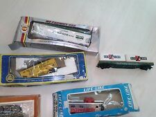 ho train 9 cars Vintage assortment all 1 price Most in boxes most new