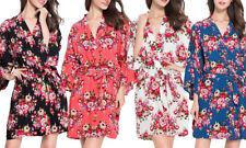 Cotton Floral Kimono Robe, Soft, comfortable, lounge wear, bride, bridesmaid NEW
