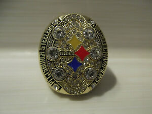 Superbowl Replika Ring XLIII Pittsburgh Steelers Super Bowl 43 NFL Roethlisberge
