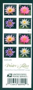 US 4967 Forever Water Lilies, booklet/20, Mint NH, Free Shipping