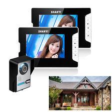 Video Türsprechanlage Edelstahl mit Kamera 2-monitor Klingel Türklingel Doorbell