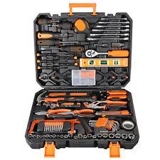 168 Pcs Socket Wrench Tool Kit Mechanics Screwdriver Knife Toolbox Handtool Case