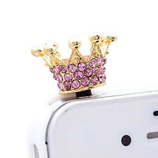 Crown 3.5mm Anti Dust Earphone Plug Cover Stopper Cap For Phone color randomCei