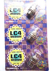 OS LC4 Medium Long Reach Traxxas 2.5 3.3 Nitro Glow Plug - 3 Pack 71653400