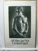 ALL MEN ARE NOT CREATED EQUAL VINTAGE POSTER GARAGE 1986 HOT GUY CNG1023