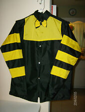 """SEATTLE SLEW""TRIPLE CROWN WINNER FAMOUS RACEHORSE SILKS AUTHENTIC REPRODUCTION"