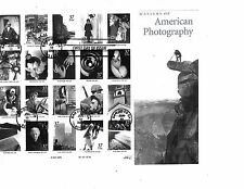 MASTERS OF PHOTOGRAPHY STAMP SHEET- FIRST DAY OF ISSUE JUNE 13, 2002 (37 Cent MI