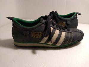 Adidas Originals Chile 62 Shoes BLACK/GREEN 💚 Leather Mens US 9 1/2 UK10