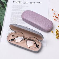 Reading Eyewear Case Leather Eye Glasses Hard Shell Protector Chic Sunglasses h