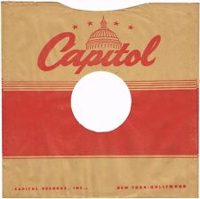 """1940s 10"""" inch V3 Capitol Records Record SLEEVE ONLY 78 RPM"""