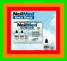NeilMed Sinus Rinse Kit 250 Premixed Pkgs +2 Bottles +NASAMIST SALINE SPRAY=SALE