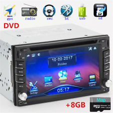 Car 2Din HD GPS Stereo DVD CD MP3 5 Player Bluetooth Dash Radio W/ 8G Free Maps